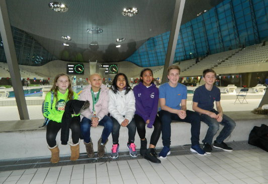 Gators New Year meet at the London Aquatic Centre